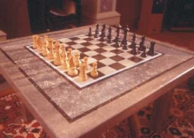 21 Limestone Chess board