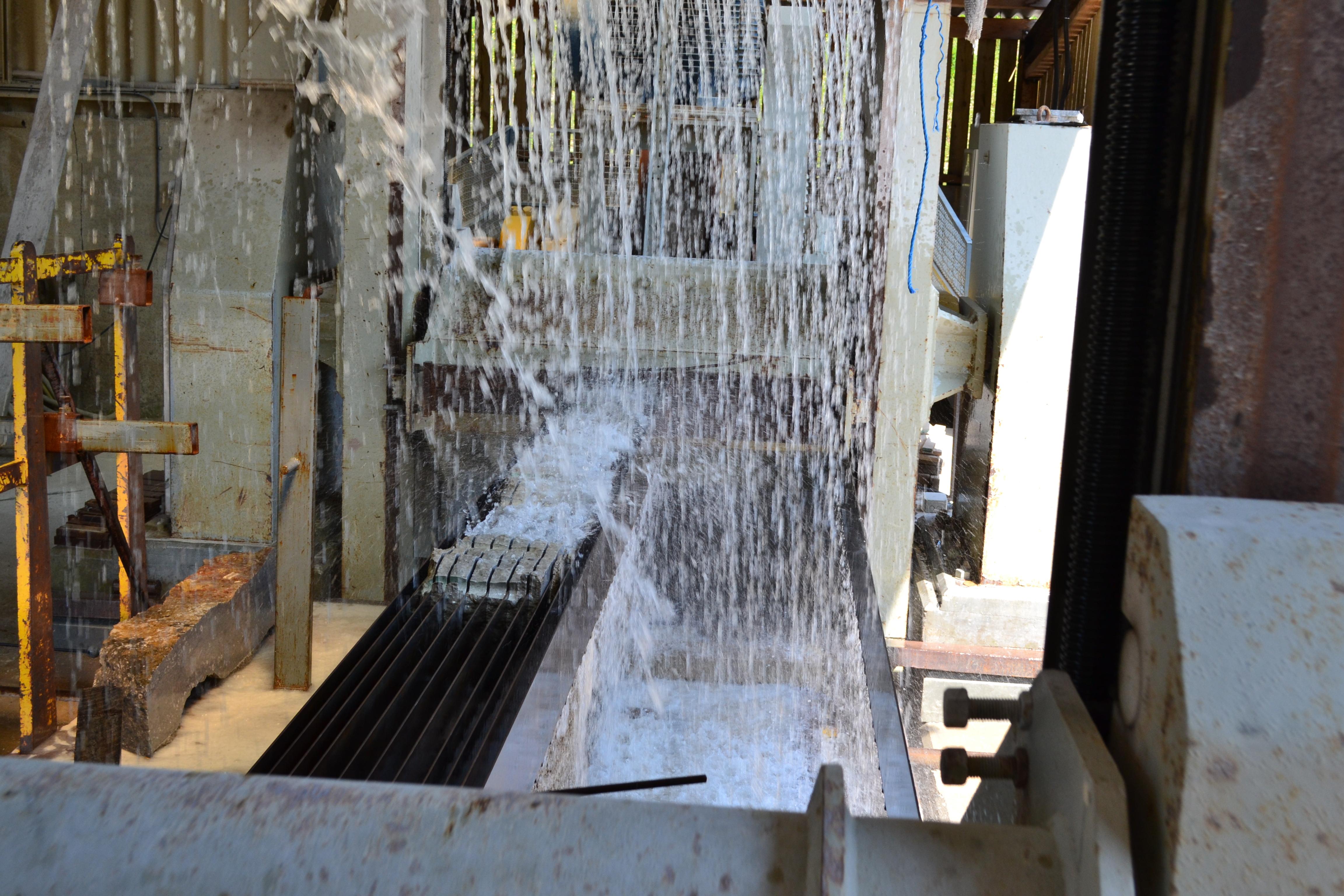 Slabs being sawn